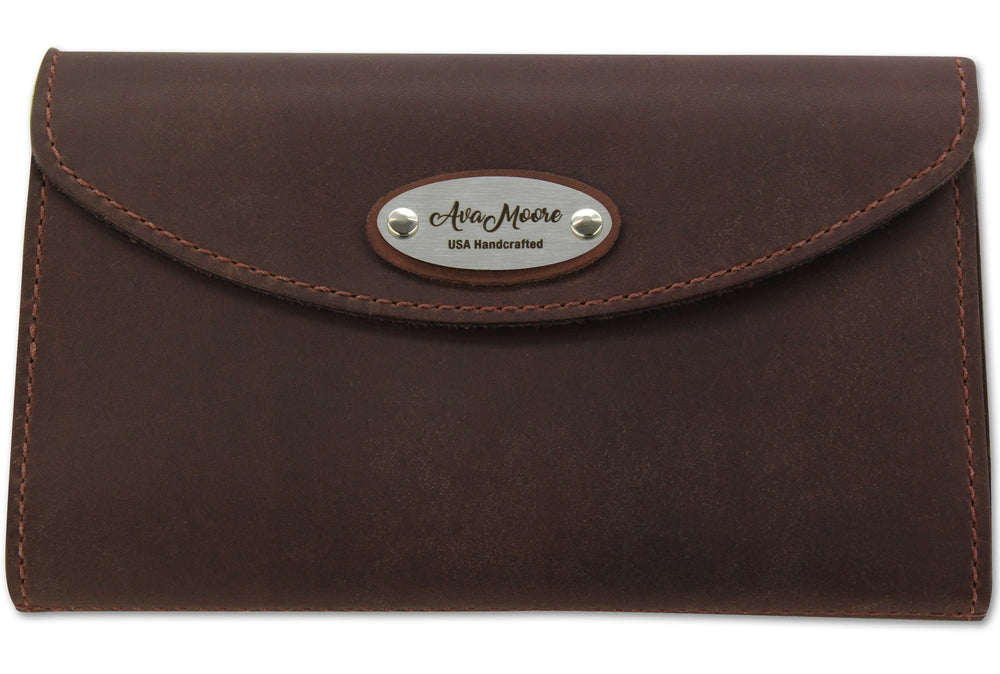 Brown Leather Deluxe Women's Wallet