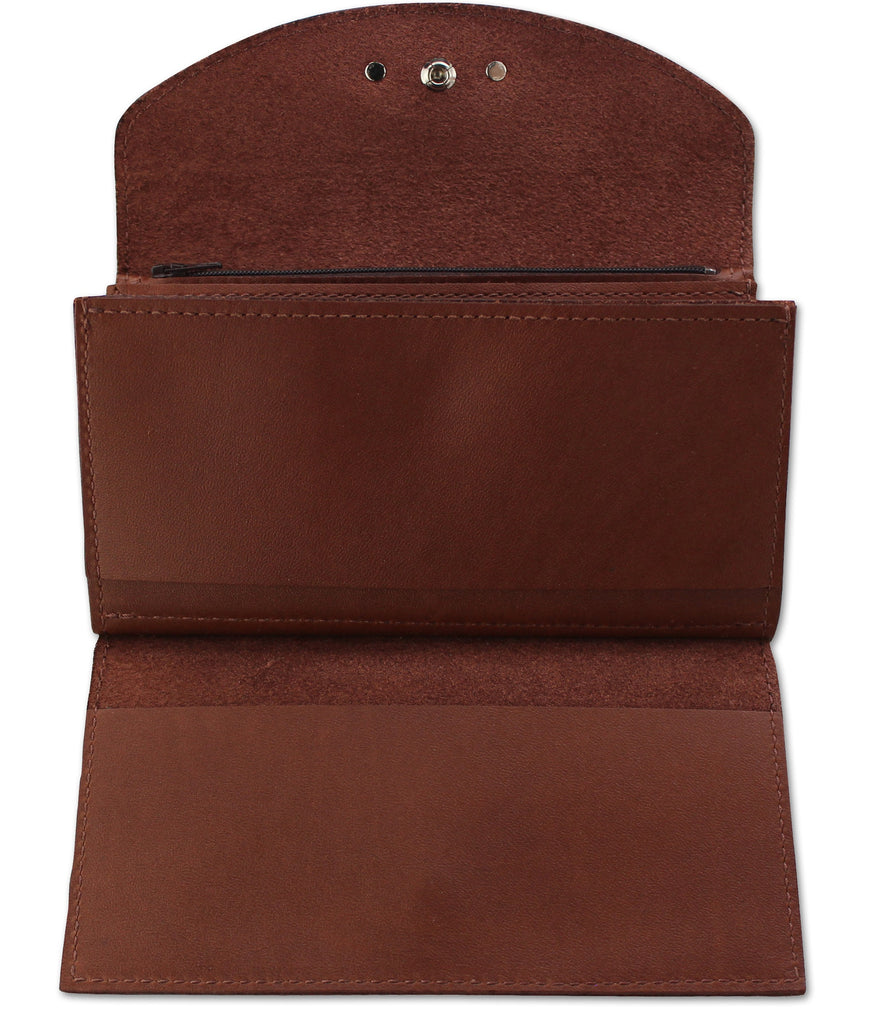 SPECIAL OFFER Medium Brown Leather Deluxe Women's Wallet