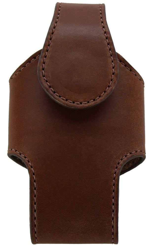 Medium Brown Bullhide Leather Vertical Cell Phone Holster Case (SKU 7030-34)