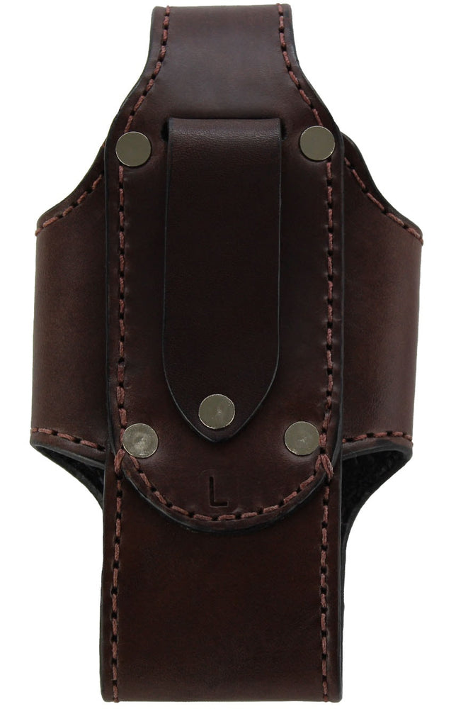 Brown Bullhide Leather Vertical Cell Phone Holster Case (SKU 7030-36)