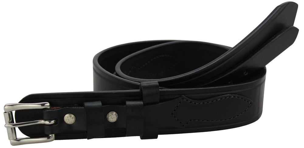 Black Creased Edge Workhorse Ranger Belt (SKU 8252-18)
