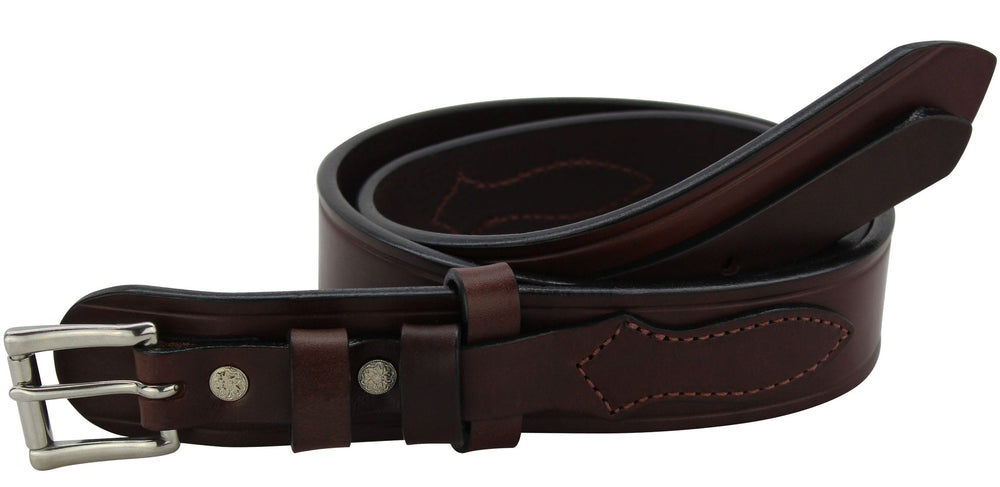 Brown Creased Edge Workhorse Ranger Belt (SKU 8252-36)