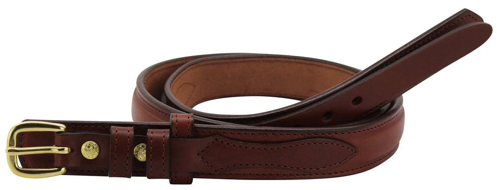 Bullhide Belts Medium Brown Raised Center Ranger Belt (SKU 8575-34)