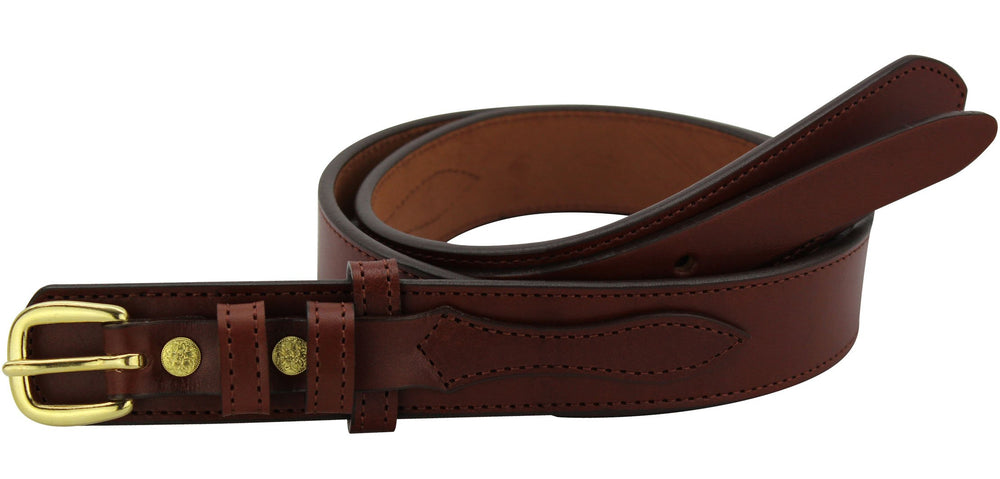 Bullhide Belts Medium Brown Ranger Belt with Small Stitching (SKU 8577-34)