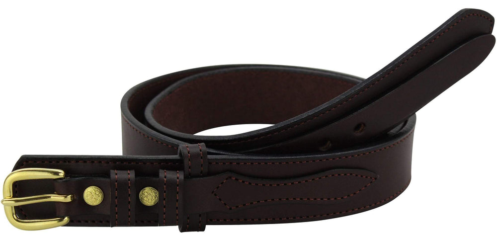 Bullhide Belts Brown Ranger Belt with Small Stitching (SKU 8577-36)