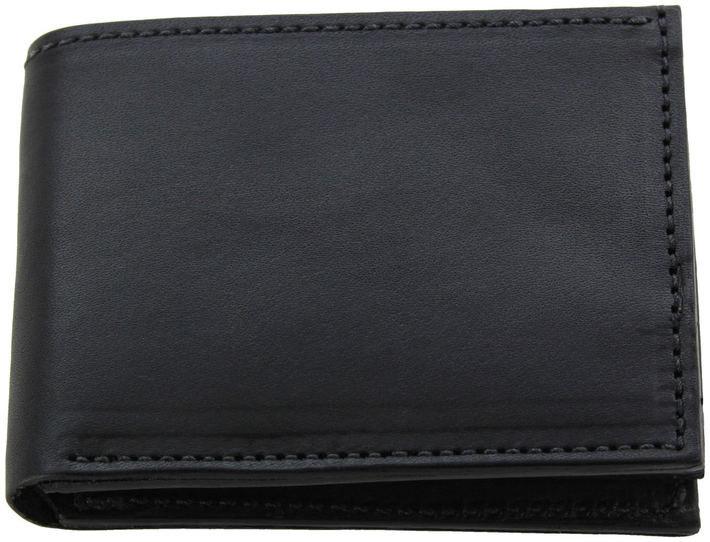 Black Premium Bridle Leather USA Made Bifold Wallet