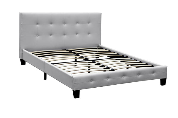 F/L - Ashton Bed Unit - Double - White PU