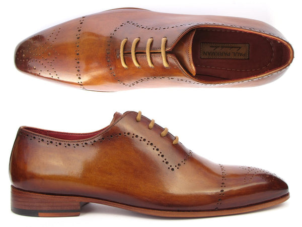Paul Parkman Light Brown Classic Brogues (ID#ZLS32CML)