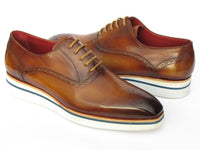 Paul Parkman Smart Casual Men's Brown Oxfords (ID#184SNK-BRW)