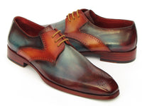 Paul Parkman Men's Multi-color Medallion Toe Derby Shoes (ID#6584-MIX)