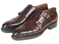 Paul Parkman Genuine Crocodile & Calfskin Norwegian Construction Monkstraps (ID#LX784CR)