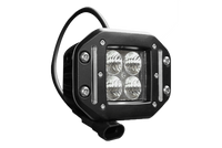 "40W, 2550 Lm - Rugged SA W series Double Row Cube 2"" Flood Beam IP69K Led off-road Light, Flush mount with Harness - 2"" / Cube / Flood"