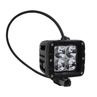 "40W, 3200 Lm - Rugged SA 2"" W1 Series Double Row Cube Flood Beam Pattern Led off-road Light , with brackets and harness - 2"" / Cube / Flood"
