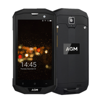 AGM A8 Pro Rugged Android 7.1 Smartphone - 4GB, 64GB, IP68, Snapdragon CPU, Dual-Sim - Black