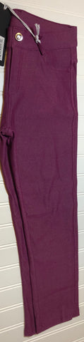 Misses Plum Crop Jegging - Clemmie and Jo