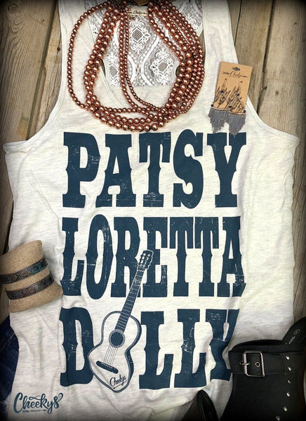 Patsy Loretta Dolly Laceback Tank - Clemmie and Jo