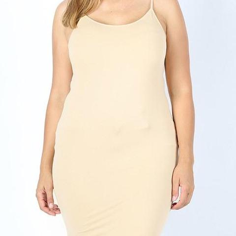 Seamless Longline Cami - Sand - Clemmie and Jo