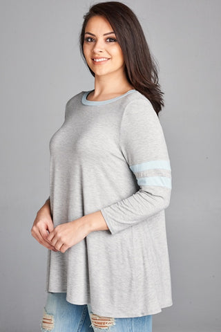 Lori Double Strip Sleeve Top - Clemmie and Jo