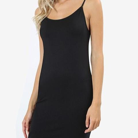 Seamless Longline Cami - Black - Clemmie and Jo