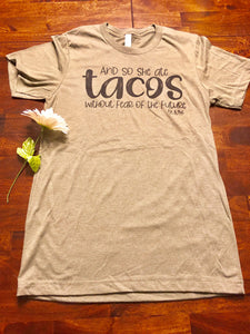 She Ate Tacos Tee - Clemmie and Jo