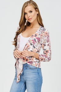 Misses Floral Tie Front Cover Up - Clemmie and Jo