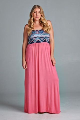 Tiffany Strapless Maxi Dress - Clemmie and Jo