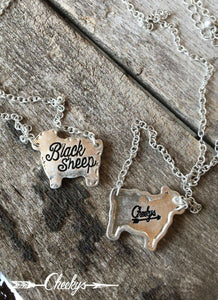 Black Sheep Necklace - Clemmie and Jo