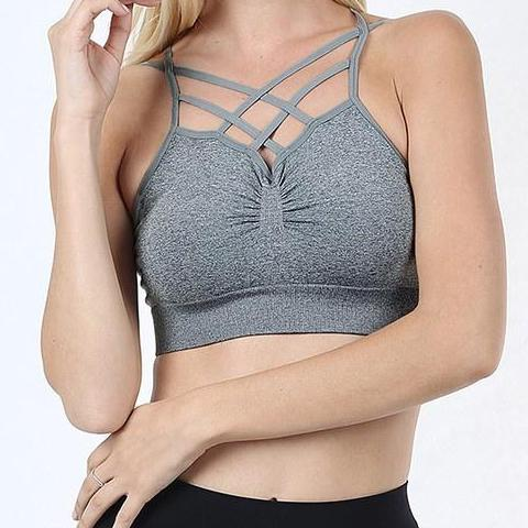 Bralette  - Heather Grey - Clemmie and Jo