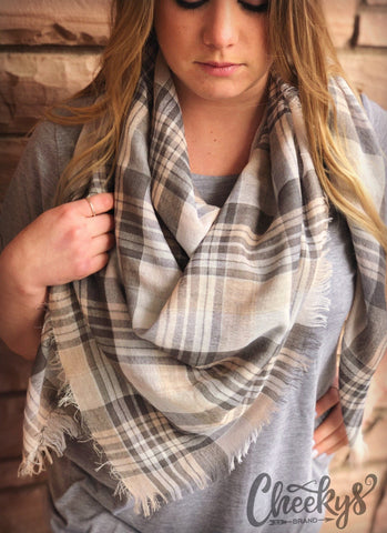 Leanna Plaid Scarf - Clemmie and Jo