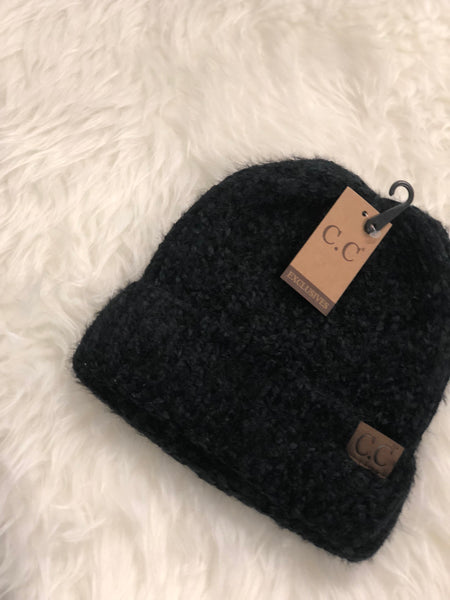 CC Beanie Fuzzy Chenille Two Tone - Clemmie and Jo