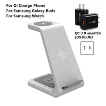 Load image into Gallery viewer, QI 10W Fast Charge 3 in 1 Wireless Charger Station
