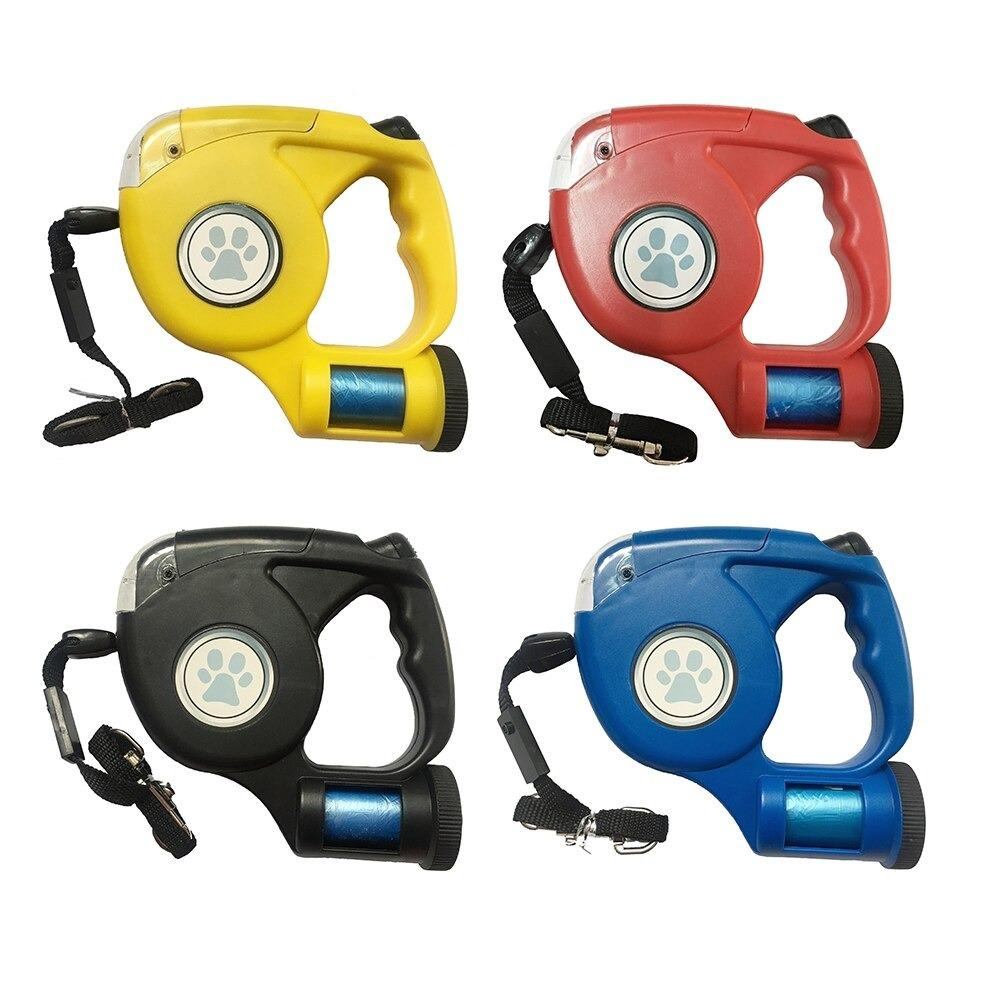 Retractable Leash with Led Flashlight and Bag Supplier