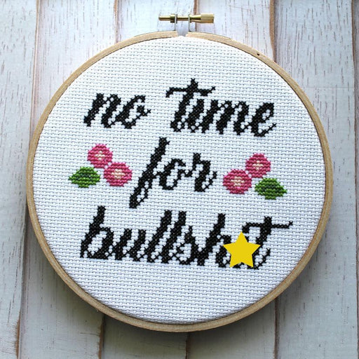 'No Time For Bullshit' Stitch Kit-Spot Colors-Crying Out Loud