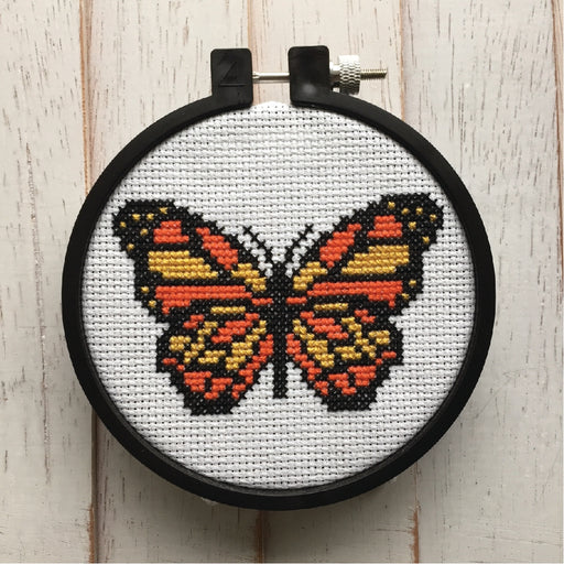 'Butterfly' Cross Stitch Kit-Spot Colors-Crying Out Loud