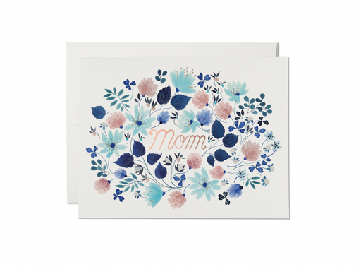 'Blue Foral Burst' Mother's Day Card-Red Cap Cards-Crying Out Loud