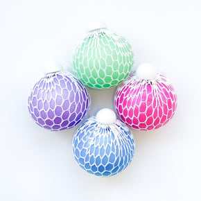 "3"" Mesh Squish Iridescent Ball-La Luna Bella-Pink-Crying Out Loud"