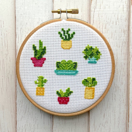 'Plant Life' Cross Stitch Kit-Spot Colors-Crying Out Loud