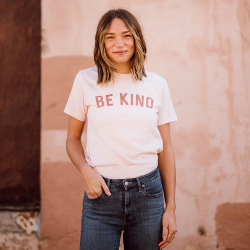Be Kind Unisex Tee - Faded Pink-August Ink-Crying Out Loud