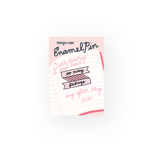 'So Many Feelings' Enamel Pin-Talking Out Of Turn-Crying Out Loud