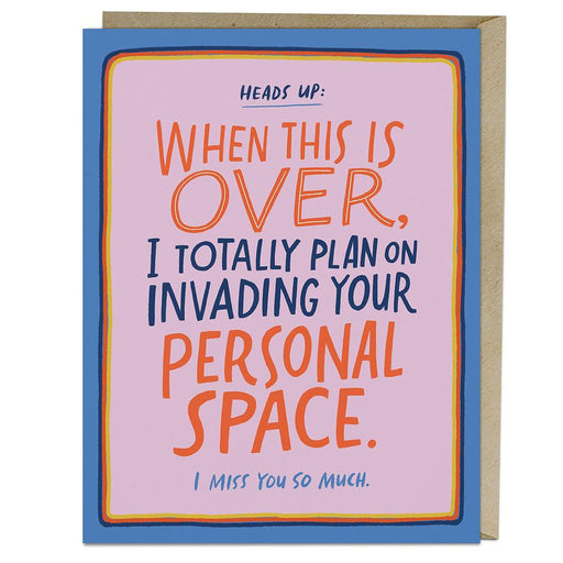 'Personal Space' Card