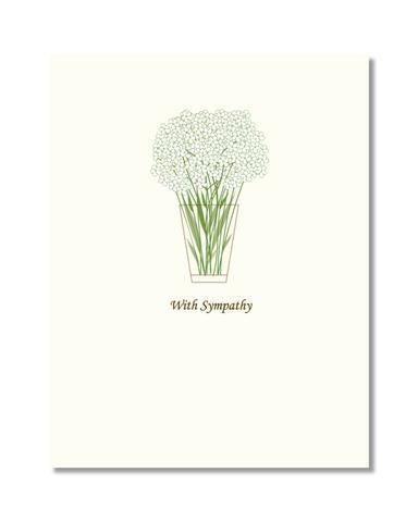 Floral Sympathy Card-Designs by Val-Crying Out Loud