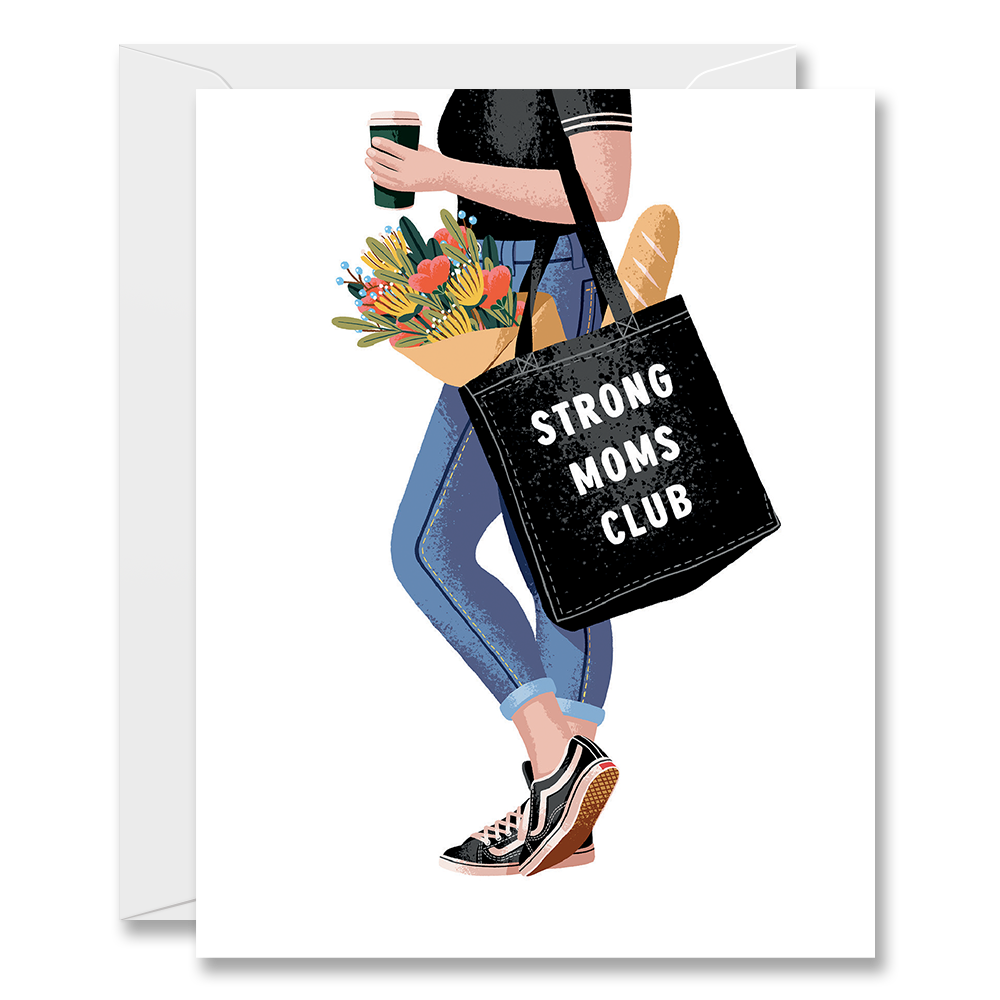 'Strong Moms Club' Card-Halfpenny Postage-Crying Out Loud