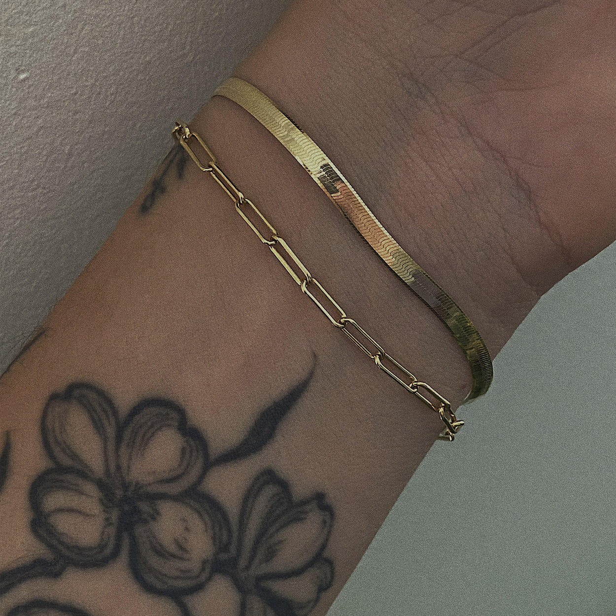 The Paperclip Chain Bracelet - Gold-Zephyr Grey-Crying Out Loud