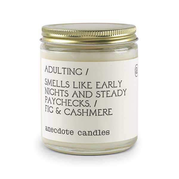 Adulting Candle-Anecdote-Crying Out Loud