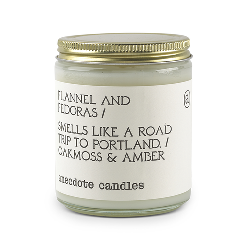 Flannel & Fedoras (Oakmoss & Amber) Candle-Anecdote-Crying Out Loud