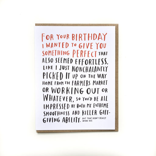 Awkward Birthday Card-Paper E Clips-Crying Out Loud
