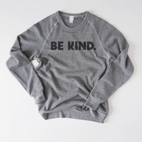 Be Kind Fleece Sweatshirt-August Ink-Small-Crying Out Loud