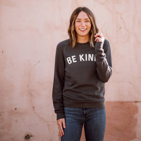 Unisex Be Kind Sweatshirt - Dark Grey-August Ink-Crying Out Loud