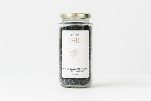 Chill Black Lava Salt Soak-Kismet-Crying Out Loud