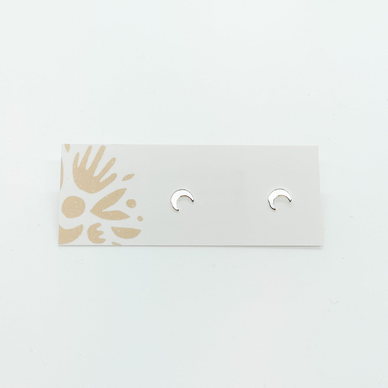 Crescent Moon Silver Studs-Devi Arts Collective-Crying Out Loud